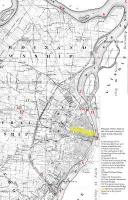 Eruv Online History Of City Eruvin Part The Eruv In St Louis - San francisco eruv map