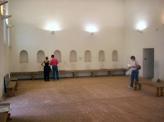 Inside the reconstructed Roman military bathhouse