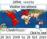 Visitantes a mi blog del mundo: