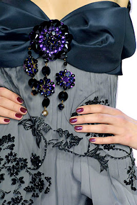 lacroix1 Fall 2007 Couture Nail Watch   Christian Lacroix