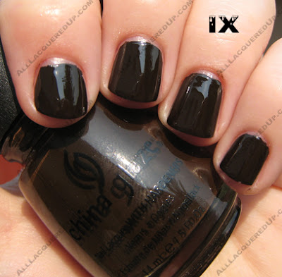 9 China Glaze X Collection