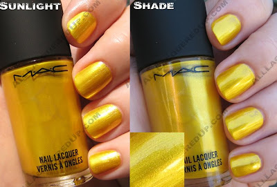 macneoscifiphosphor MAC Neo Sci Fi Nail Polishes