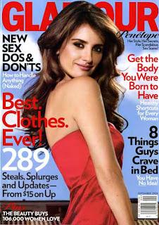 glamour, september 2008, penelope cruz, glamour magazine, andrea pomerantz lustig