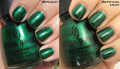 china glaze emerald sparkle sleigh ride holiday 2008 China Glaze Sleigh Ride for Holiday 2008