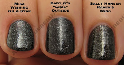 opi baby its coal outside ravens wing wishing start OPI Holiday In Toyland Darks & Neutrals