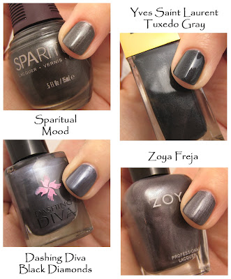 nail trend fall 2008 graphite gunmetal Fall Nail Trend Alert   Smoky Tips