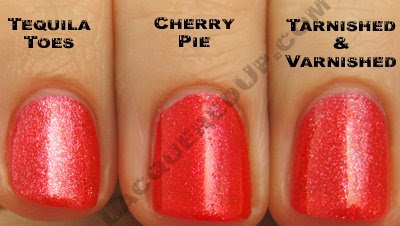 china glaze cherry pie tequila toes tarnished China Glaze Summer Days