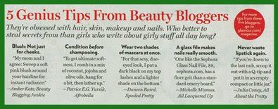 glamour beauty blogger tips Lookie... Im In Glamour Magazine