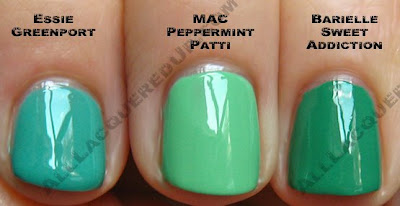 mac peppermint patti essie greenport barielle MAC Sugarsweet   Peppermint Patti & Seasonal Peach