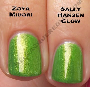 zoya midori sally hansen glow Zoya Ooh La La for Summer 2009