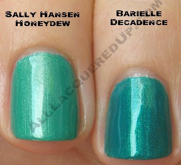 sally hansen honeydew barielle decadence Swatch Request Saturday   Summer Blues &amp; Greens