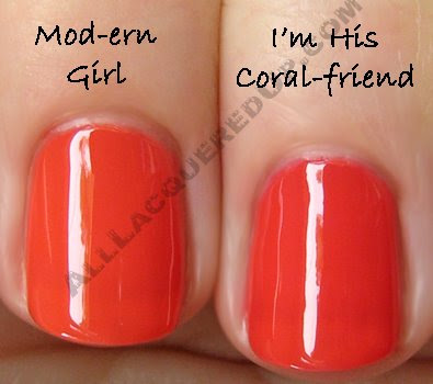 opi mod ern girl coral friend Swatch Request Sunday   Orange You Glad You Asked?