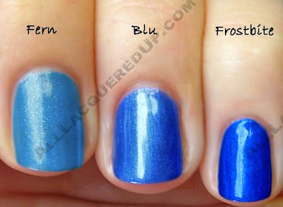 sally hansen hd blue chg frostbite Sally Hansen HD Hi Definition Nail Color   Part 2