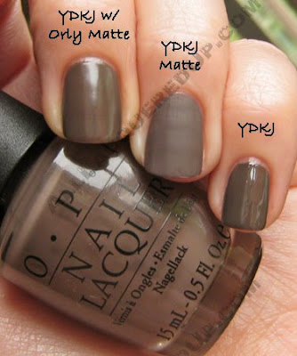 opi you dont know jacques matte comparison OPI Matte Collection Review, Swatches & Comparisons
