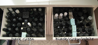 dark green black gray white nail polish drawer Storage Solution   The IKEA Helmer