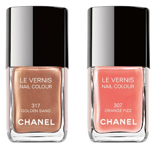 chanel, orange fizz, golden sand, chanel le vernis, le vernis, chanel nail colour, nail color, nail polish, nail lacquer