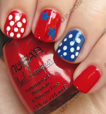 nail art fourth july 4th manicure My 4th of July Manicure   A Nail Art Extravaganza
