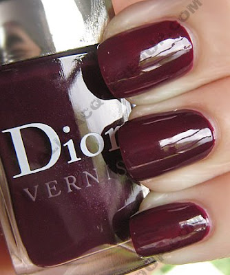 dior black plum vernis fall 2009 Dior Vernis Fall Nail Lacquers Swatches &amp; Review