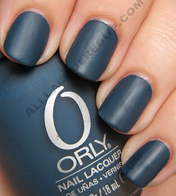 orly blue suede matte couture nail polish fall 2009 Orly Matte Couture Collection Swatches &amp; Review
