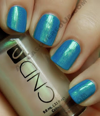 cnd emerald shimmer effect anchor blue colour nail polish CND Monday   Anchor Blue Colour with Emerald Shimmer Effect