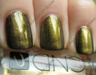 cnd gold shimmer effect raisin in the sun colour CND Monday   Raisin in the Sun Colour & Gold Shimmer Effect