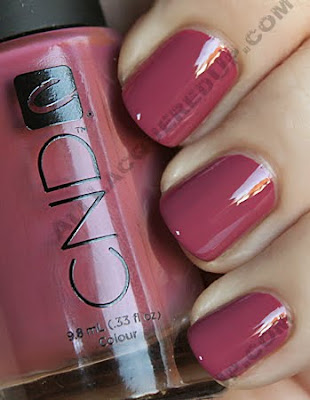 cnd muddy rose colour nail polish CND Monday   Muddy Rose Colour & Raspberry Sparkle Effect