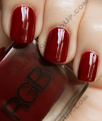 rgb crimson nail polish RGB Cosmetics Fall 09 Swatches & Review