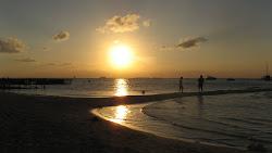 solnedgang på isla mujeres