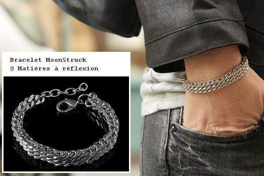 bracelet rock unisex moonstruck mati res r flexion paris. Black Bedroom Furniture Sets. Home Design Ideas