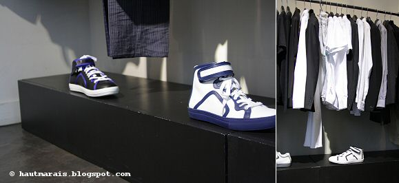 Baskets Pierre Hardy High Tops chez Jacenko, Paris Haut Marais