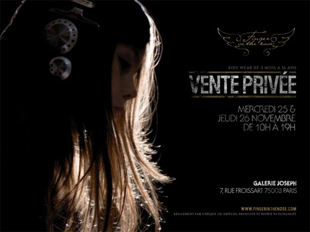 Vente privée Finger in the Nose Paris