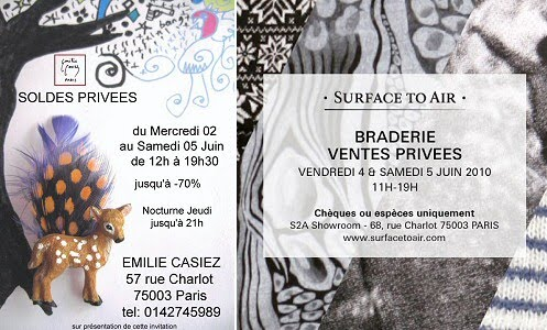 braderie surface to air et emilie casie soldes privees paris