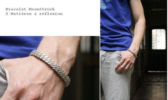 Bracelet pour Homme et unisex argenté moonstruck