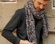 Echarpe laine homme