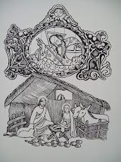 Dibujo de Nacimiento - Iglesia de San José Altar de Oro