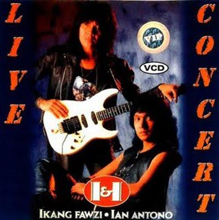 Ikang Fawzi dan Ian Antono dalam Live concert di Musicafe, Jakarta
