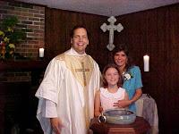 Kalyn's baptism