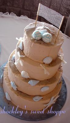 Shockleys Sweet Shoppe Beach Volleyball Wedding Cake