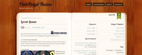 Pinkfloyd Theme Blogger Template