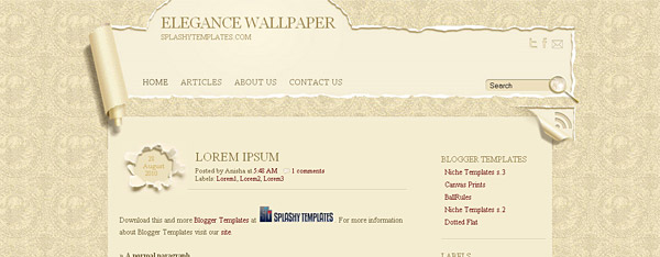 Elegance Wallpaper Blogger Template
