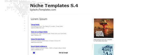 Adsense Blogger Template Simple