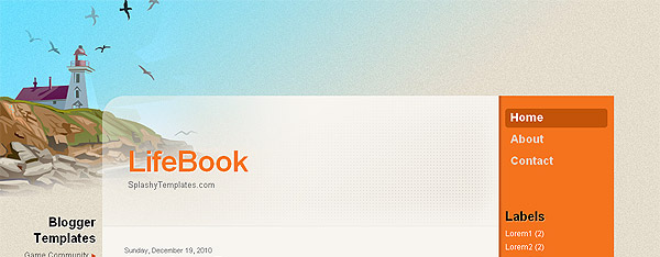 LifeBook Free Blogger Template