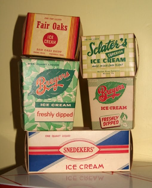 I Love Collecting: VINTAGE ICE CREAM CONTAINERS