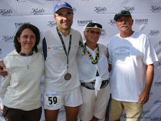 With crew at the finish