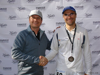 With RD Chris Kostman at the finish