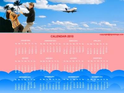 Free Desktop Calendar 2010