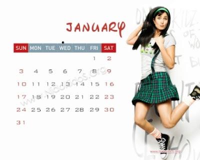 calendar january 2010. Kaif Calendar for 2010.