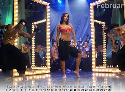 Katrina Kaif Akshay Desktop Calendar 2011