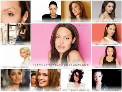 Angelina Jolie Calendar 2011