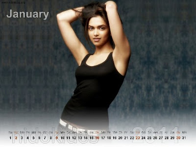Deepika Padukone Desktop Calendar 2011